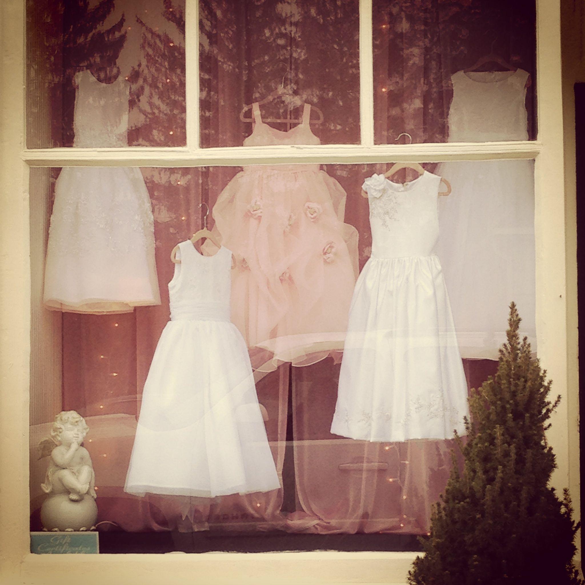 ba6e71f8feb0 Flower Girl Window Display @ Elizabeth Ann's Bridal Boutique 1148 Main ST  HOLDEN MA EDEN FLOWER DESSY FLOWER GIRL AND JOAN CALABRESE