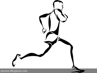Runner Silhouette line art. Free for personal use