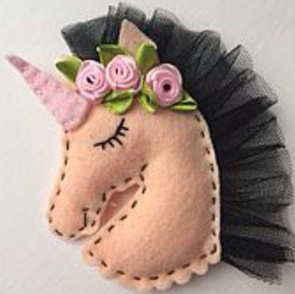 Resultado de imagen para figuras de unicornio en pa o - Como hacer figuras de fieltro paso a paso ...