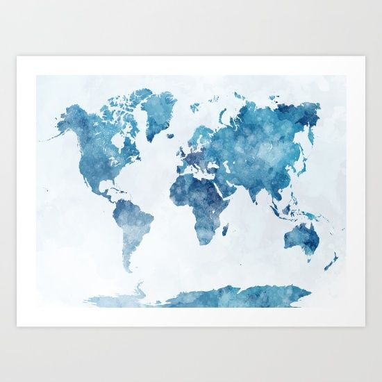 World map in watercolor painting abstract splattersbr travel world map in watercolor painting abstract splatters sciox Images