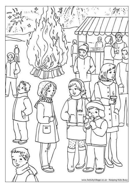 Bonfire Night colouring page Coloring pages for all ages 2