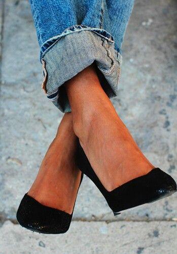 Scarpin e calça jeans