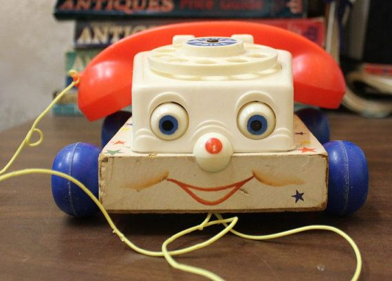 Vintage Fisher Price Chatter Telephone 747 by HeartAndHand123, $9.99