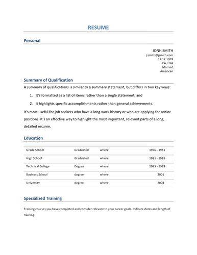 recent college graduate resume template