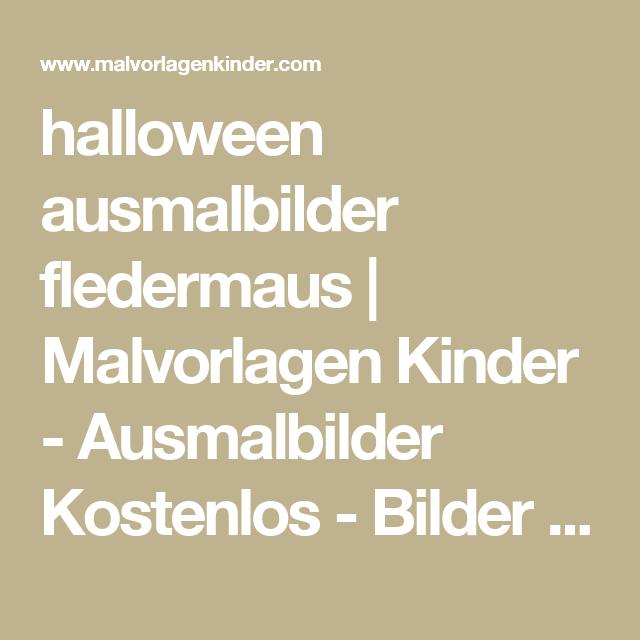 halloween ausmalbilder fledermaus | Malvorlagen Kinder ...