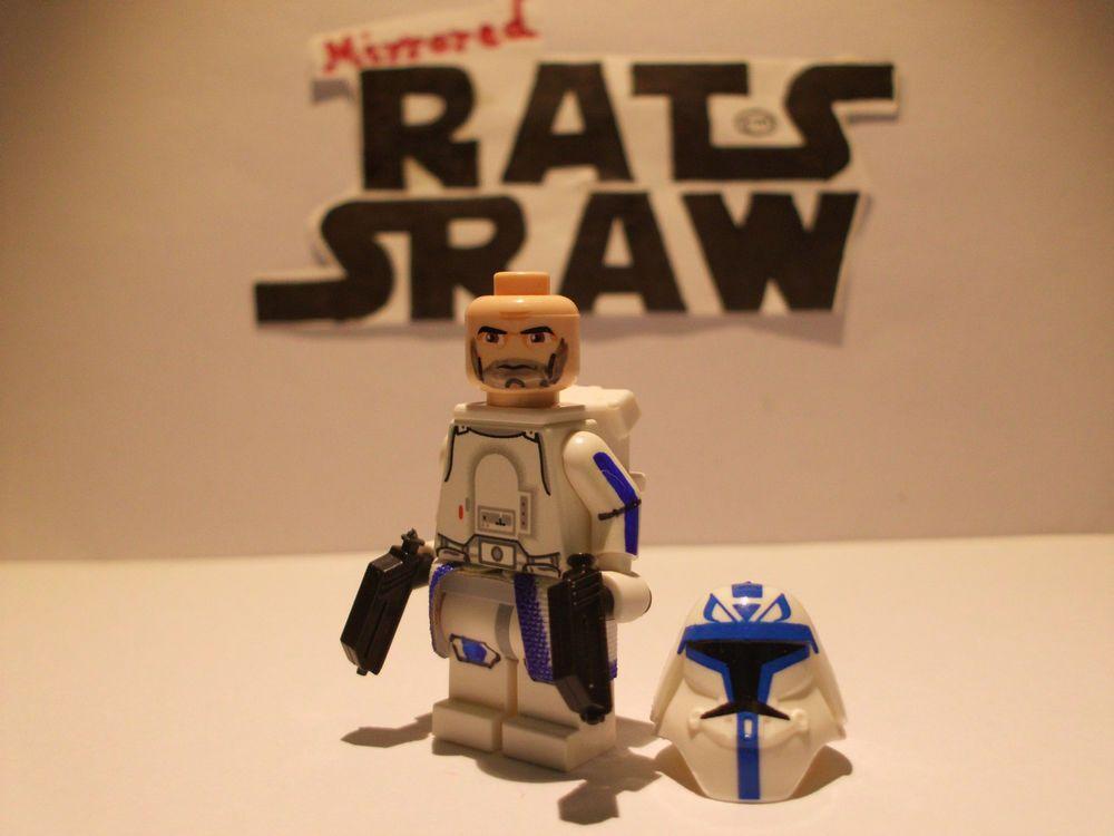 Lego Star Wars minifigures - Clone Custom Troopers - Captain Rex ...