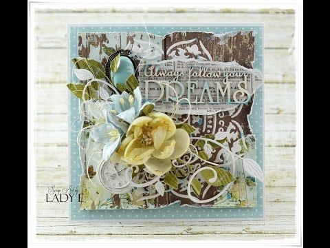 Always Follow Your Dream - Mixed Media Card Tutorial MME Scrapiniec - YouTube