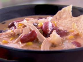 Tricia's Tortilla Soup  http://m.foodnetwork.com/recipes/662933