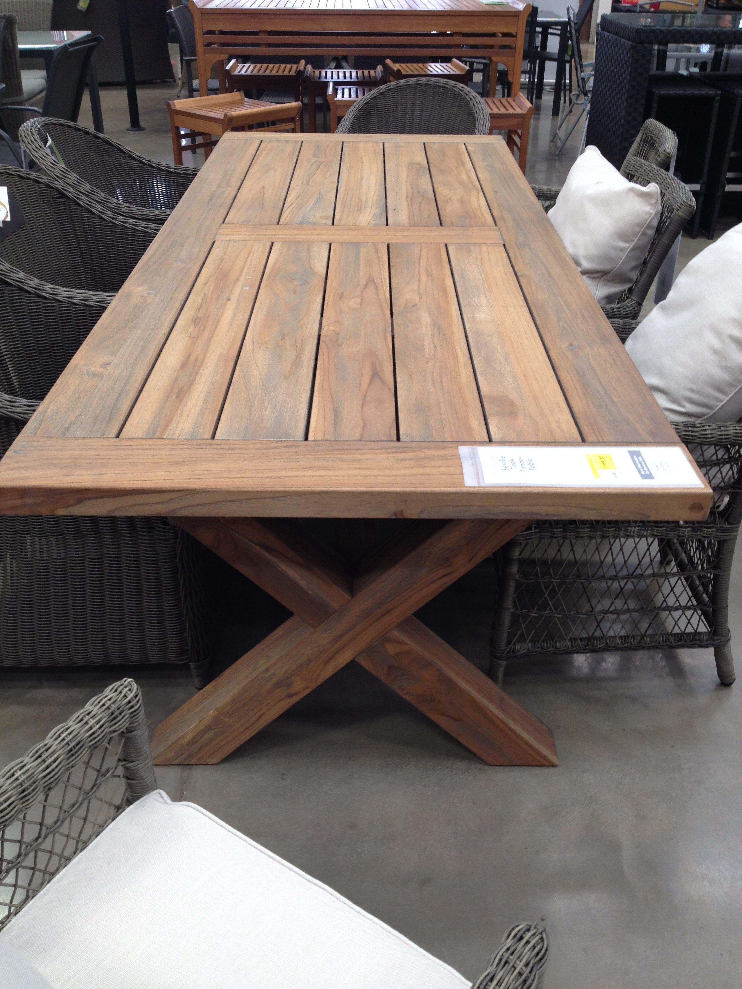 Teak Outdoor Dining Table - Bunnings Home Ideal And