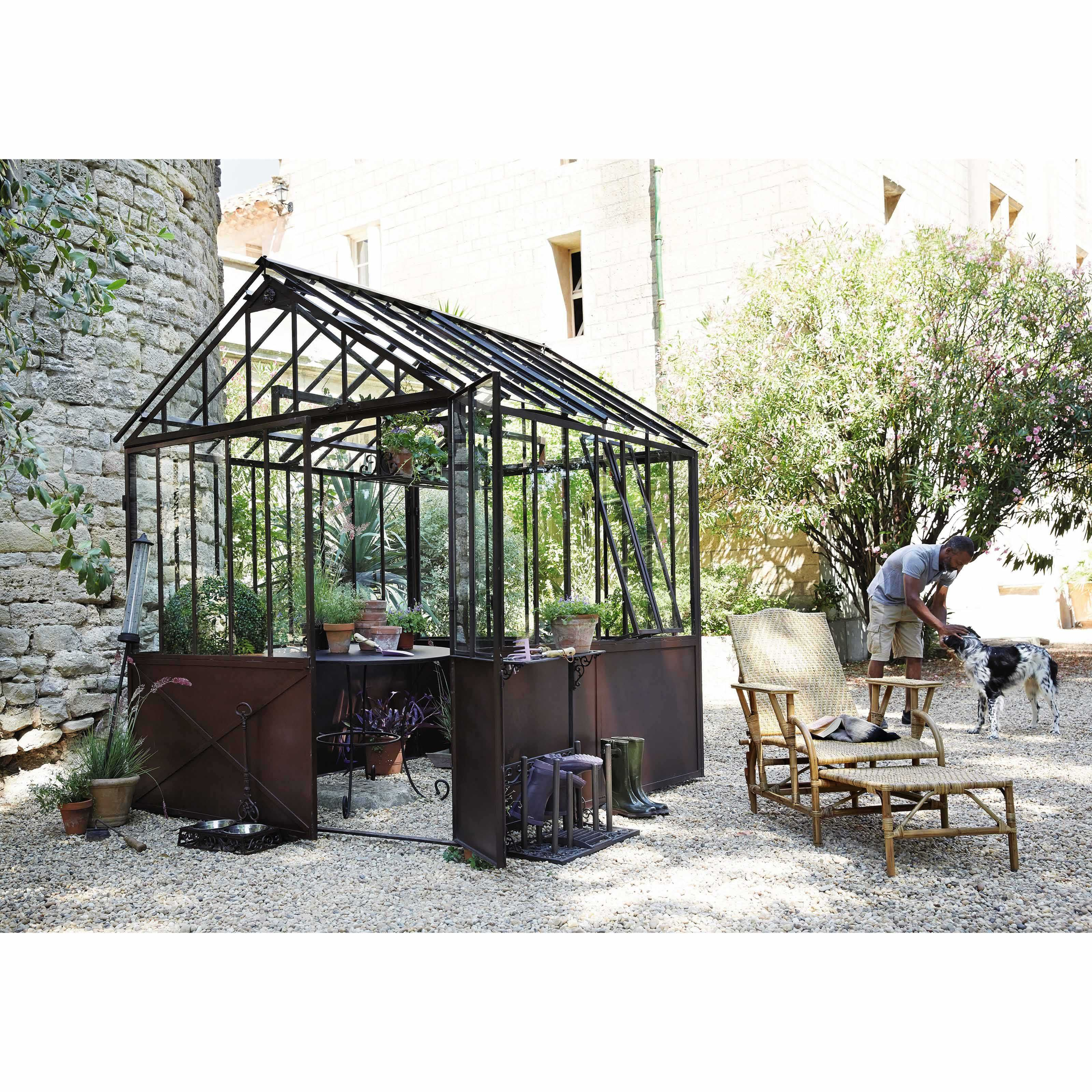Tavolo Giardino Maison Du Monde.Serra In Metallo Effetto Ruggine H 252 Cm Giardino Mediterraneo