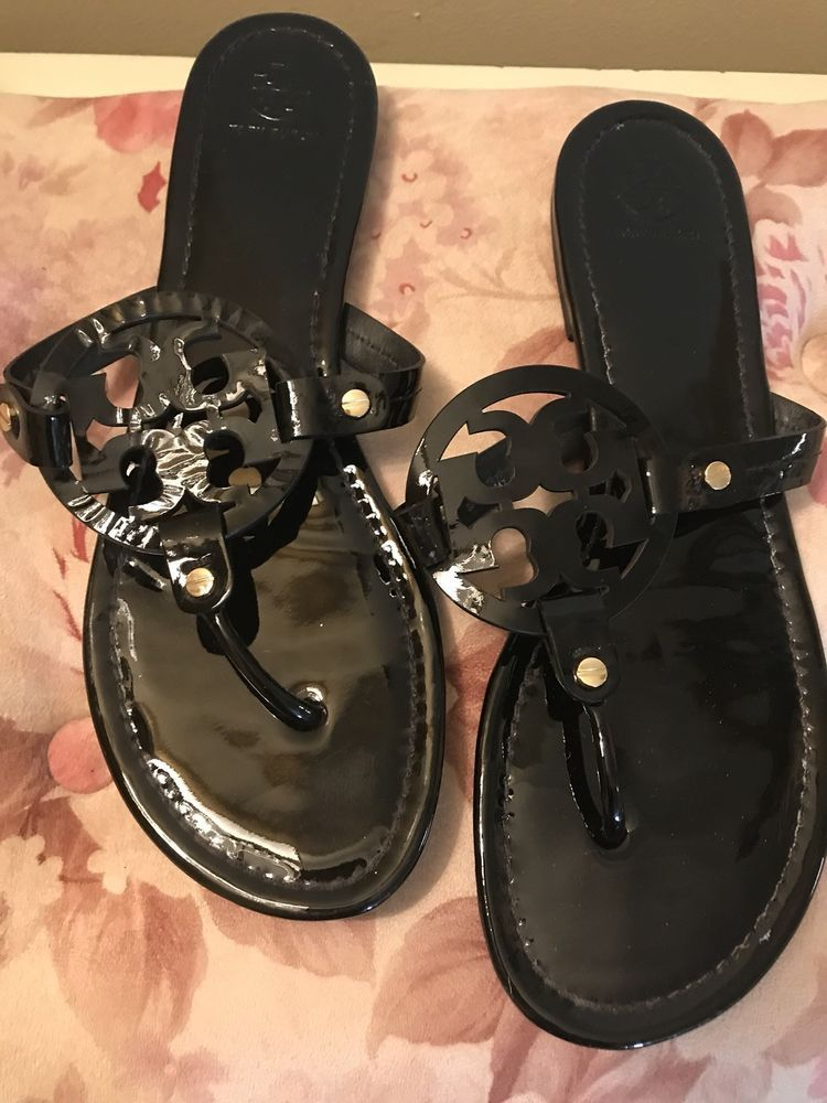 56f7c7888c75e Tory Burch Black Patent Leather Thong Sandal  fashion  clothing  shoes   accessories  womensshoes  sandals (ebay link)