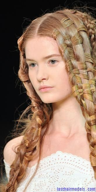 alexander mcqueen spring 2011 weave hair  oPt The basket weave braid hairstyle: Too cute and too much fun!!-pin it by carden