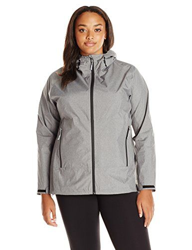 champion womens plus size stretch waterproof rain jacket oxford