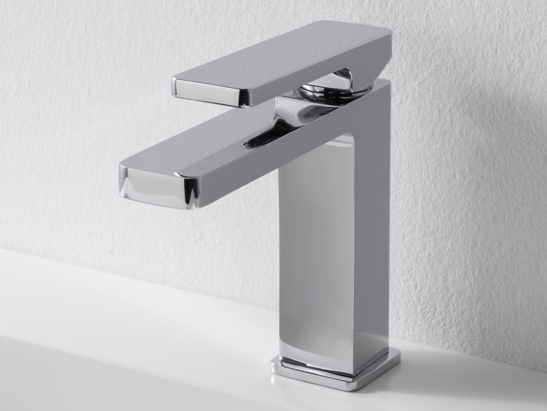 Grifo Para Lavabo De Sobre Encimera Qquadro By ZAZZERI Diseño Fabrizio  Batoni