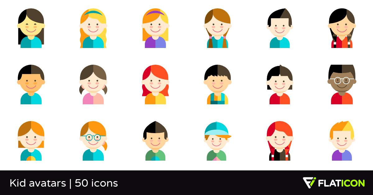 50 Free Vector Icons Of Kid Avatars Designed By Freepik Vector