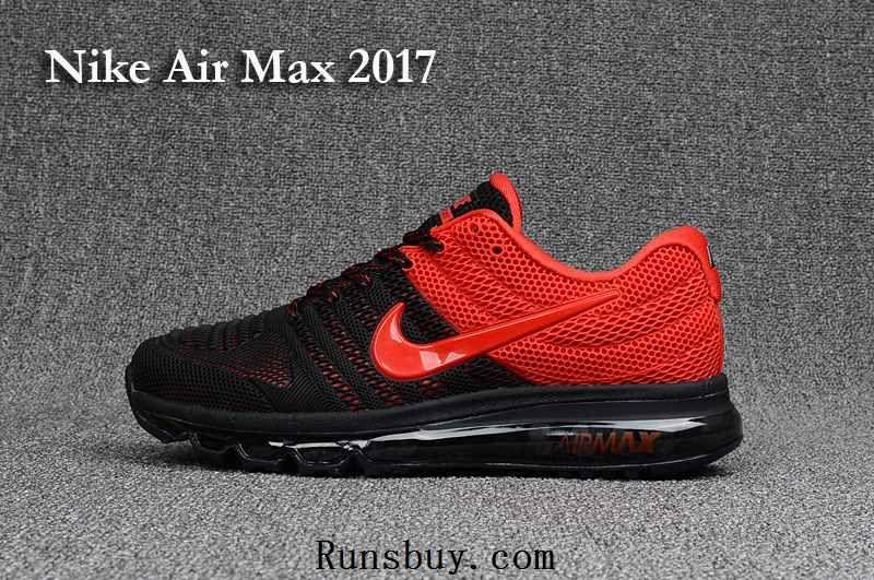 Nike Air Max 2017 3.0 KPU Black Red Men Sneakers | Nike air