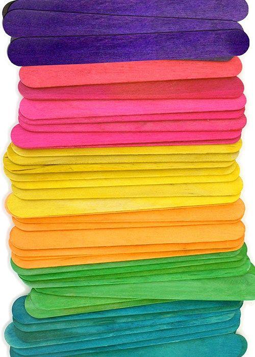 6 Jumbo Craft Sticks Multi Color Pack Crafty Sticks Products