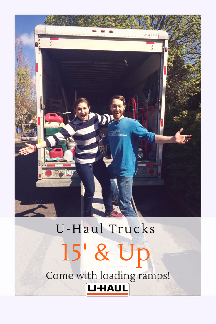 U Haul Trucks Size 15 And Up Are Equipped With Wide Sturdy Loading Ramps Loading Heavy Appliances In And Out Of The Truck Is U Haul Truck Moving Truck Haul