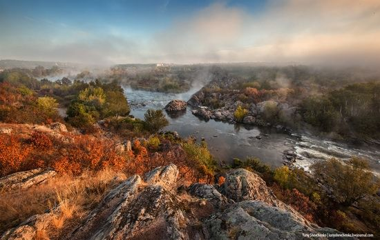 The Southern Bug River Nikolaev Region Ukraine Landscape Autumn Landscape River