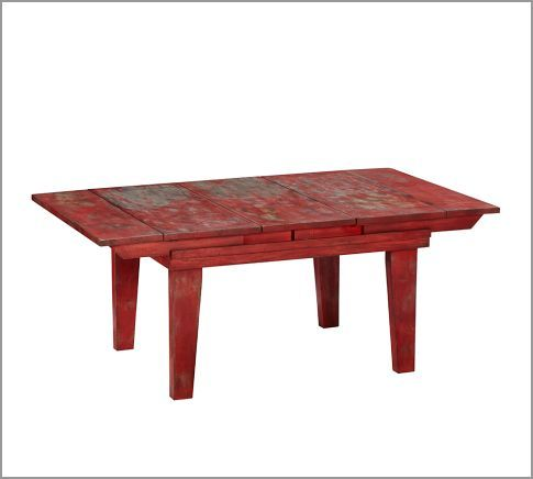 Eastlake Drop Leaf Coffee Table Pottery Barn Red