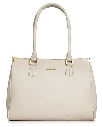 Calvin Klein Handbag On My Corner Saffiano Leather Satchel Handbags Accessories Macy S