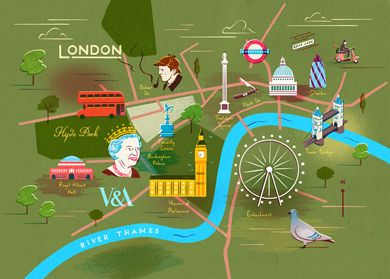 Simplified Map Of London.Simplified Map Of Central London And It S Landmarks London Town