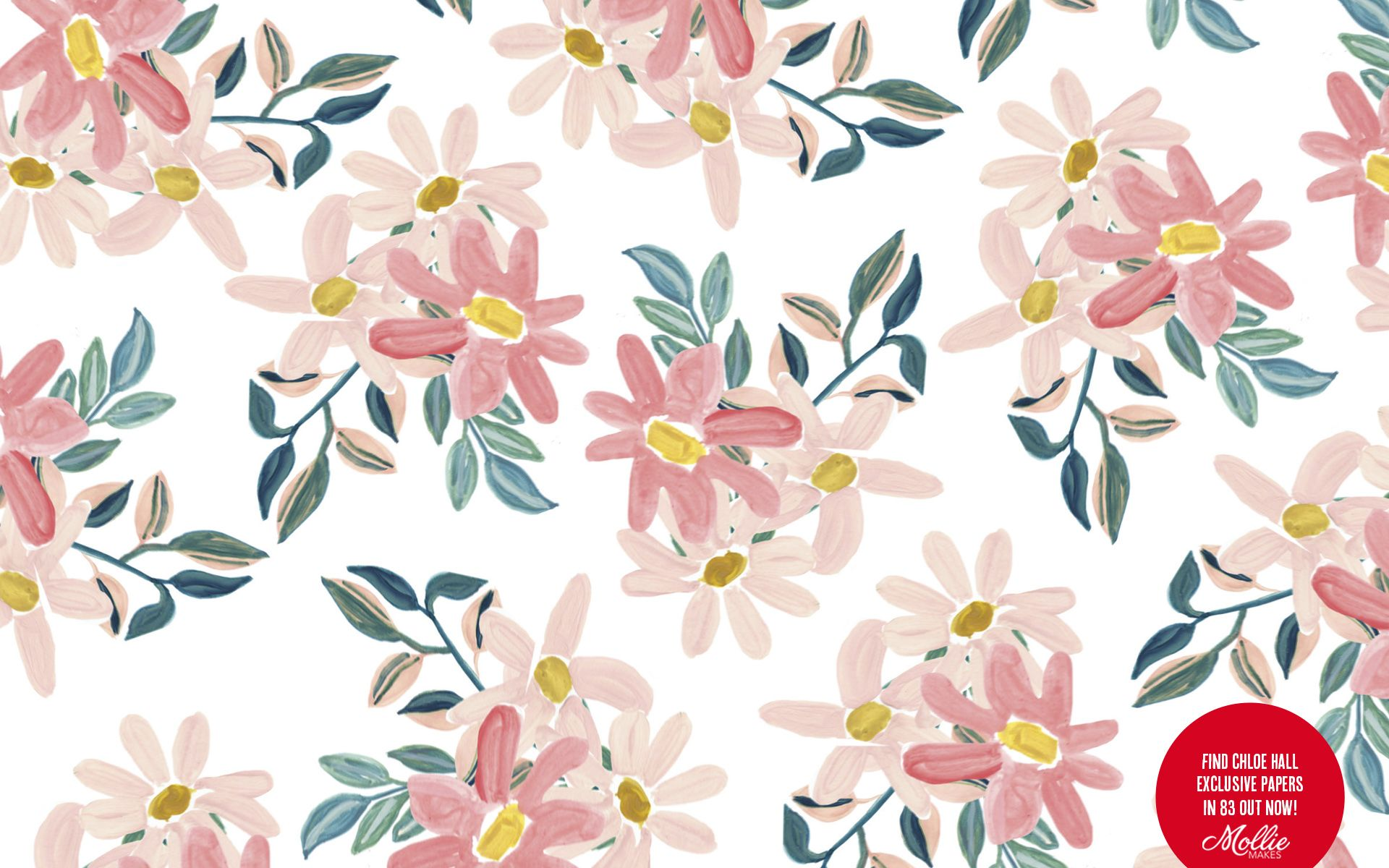 Spruce Up Your Desktop Background With This Floral Design By Chloe