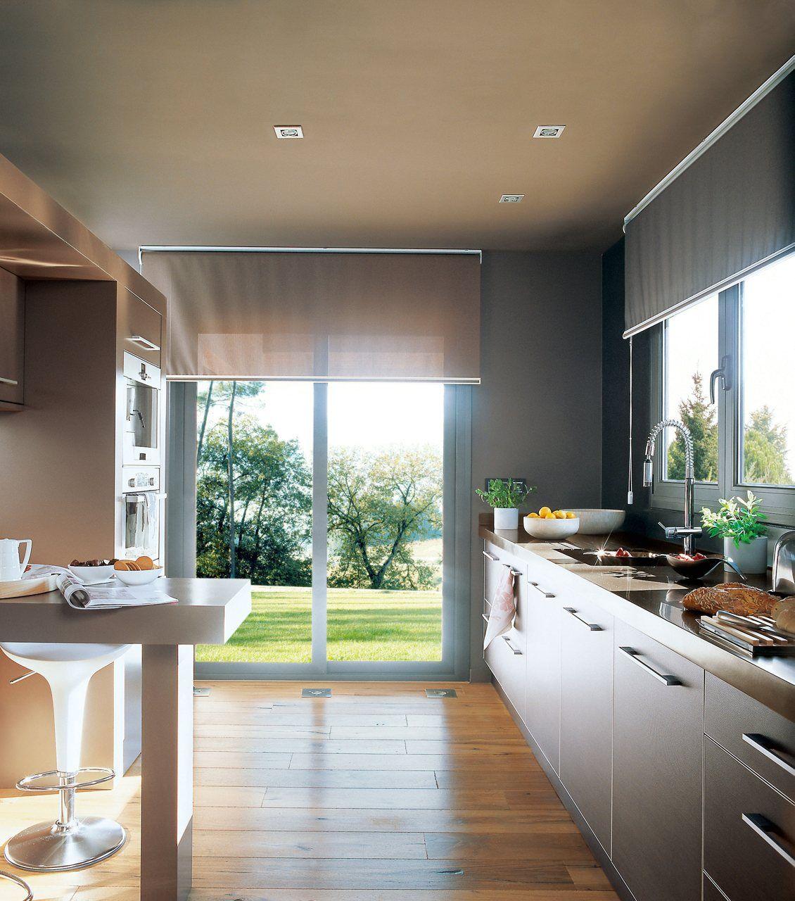Buenas ideas para cocinas peque as cocinas y ba os cortinas y estores - Estores para banos ...