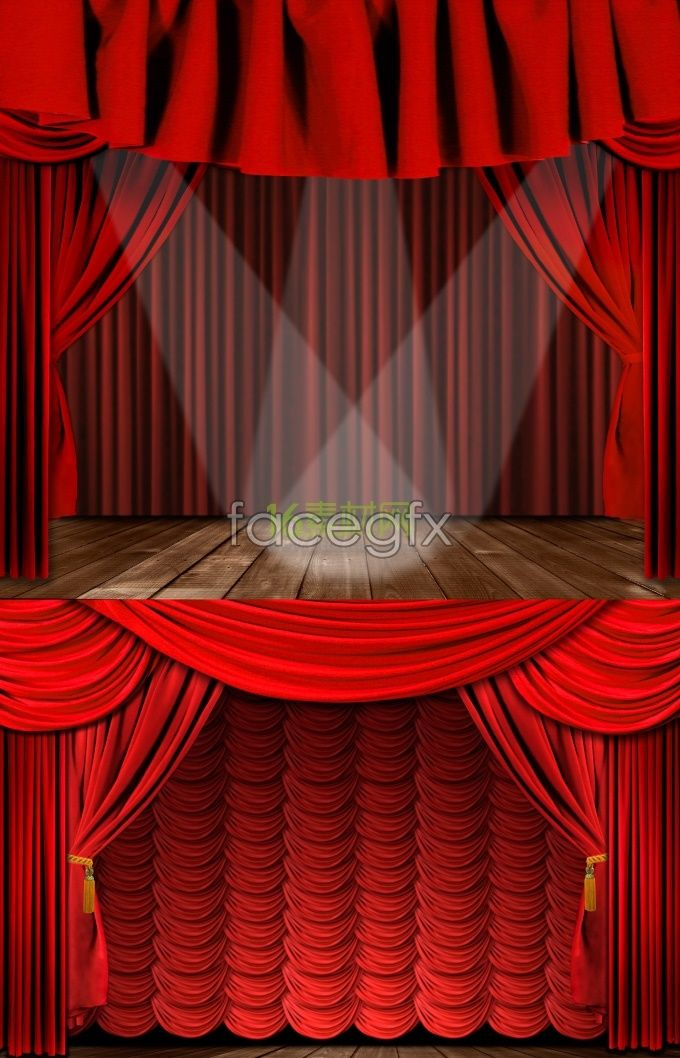 Exquisite Stage Curtain Background Pictures Stage Curtains