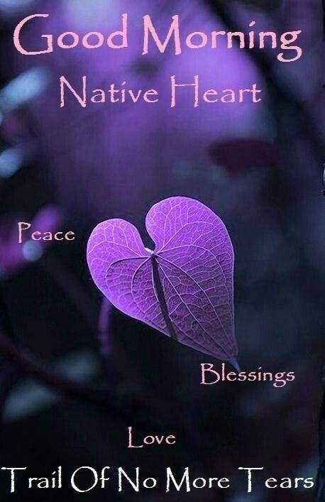 Good Morning Purple Love Heart In Nature Purple