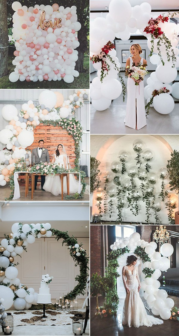 40 Awesome Wedding Decoration Ideas With Balloons Oh Best Day Ever Wedding Balloon Decorations Wedding Balloons Wedding Decorations