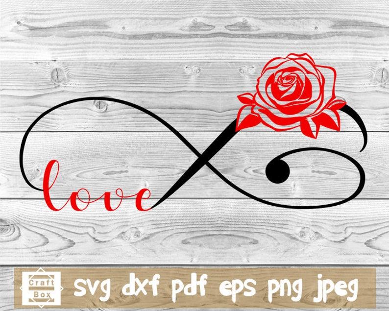 Love svg, infinity svg, rose svg, flower design svg