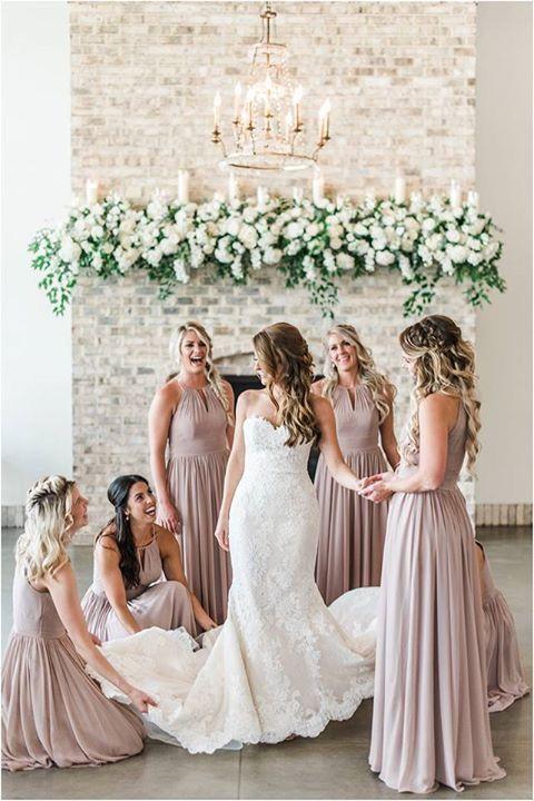 Taupe Wedding Bridesmaid Dresses