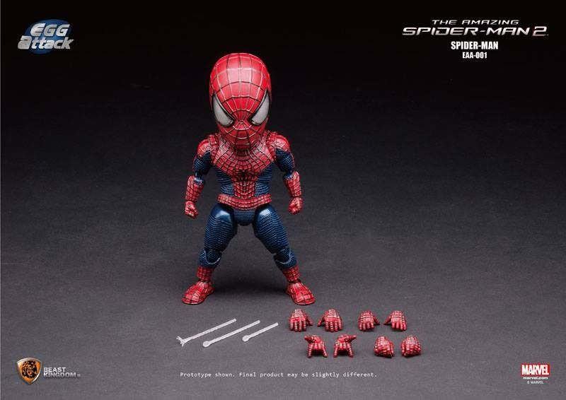 Egg Attack The Amazing Spider-Man 2 Spiderman EAA-001 PVC Action Figure