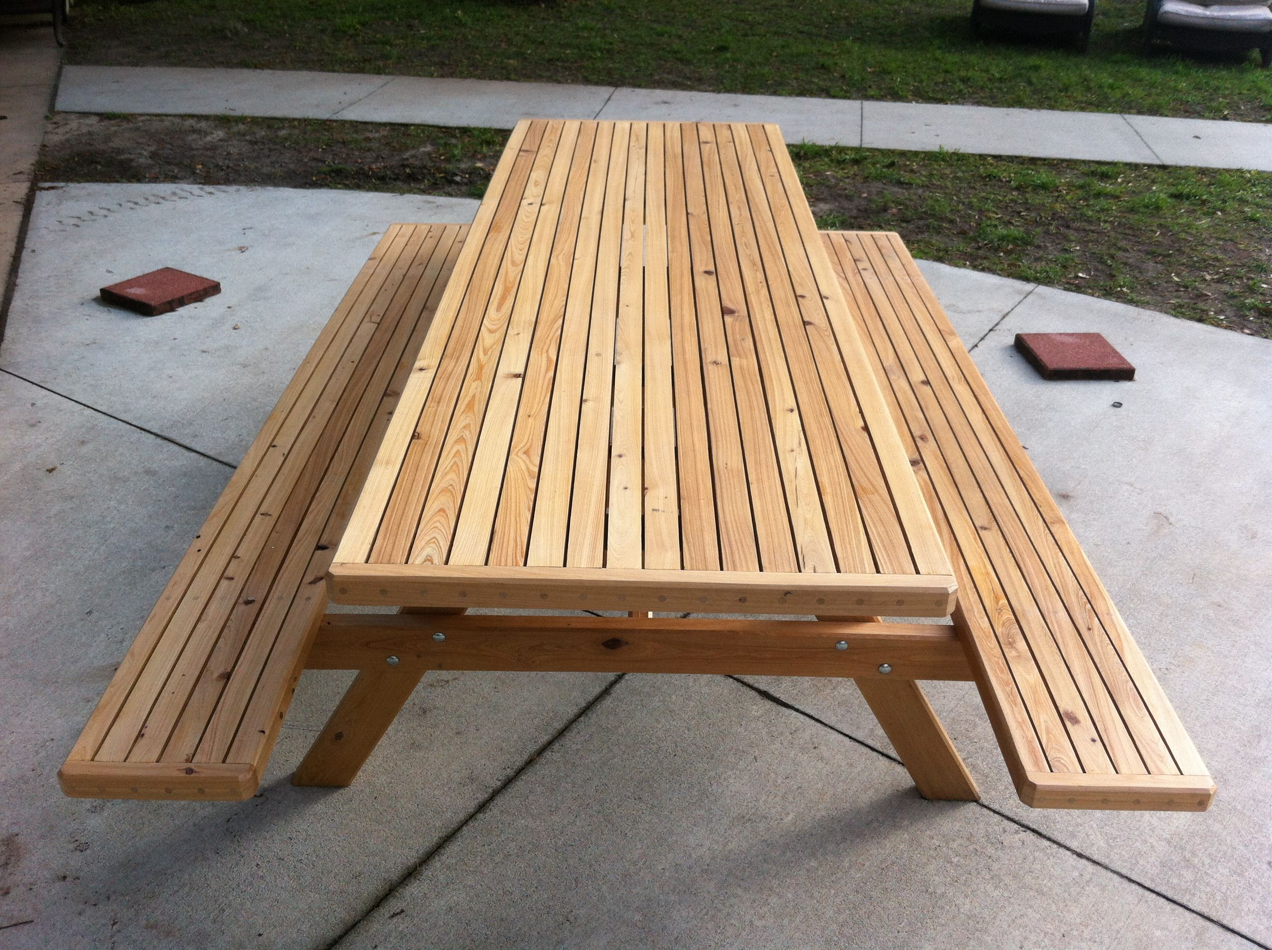 8 Foot Cypress Picnic Table The Executive