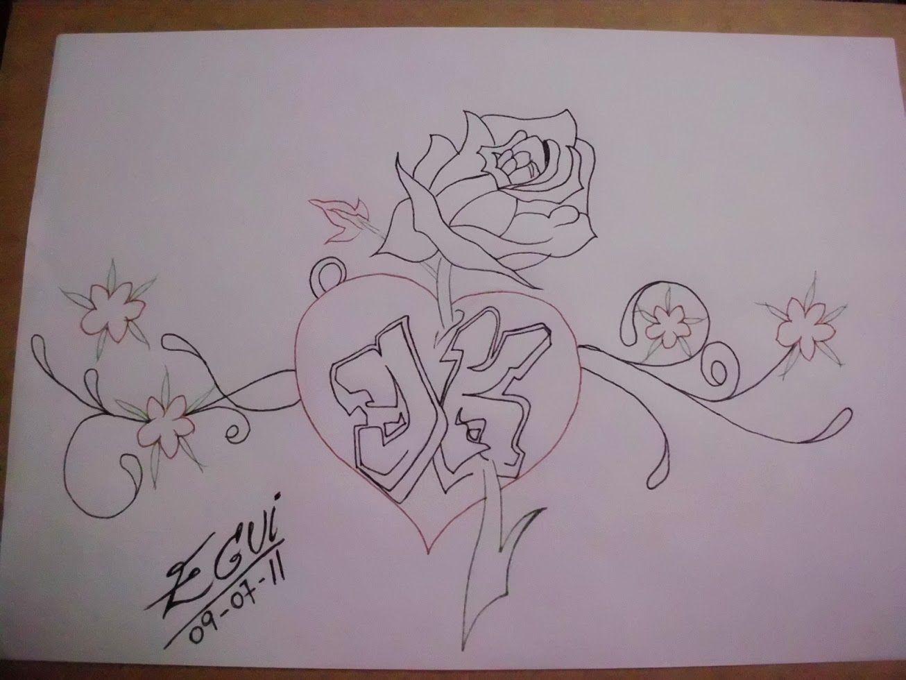 Resultado de imagen para dibujos a lapiz para dibujar faciles de amor