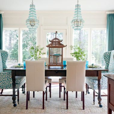 Teal Leather Dining Chairs Design Ideas Pictures Remodel And Inspiration Blue White Dining Room Inspiration Design
