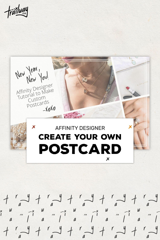 Make A Custom Postcard In Affinity Designer For Your Business Custom Postcards Business Postcards Postcard Layout