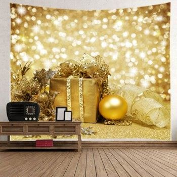 Christmas Gift Bauble Print Tapestry Wall Hanging Art | Tapestry ...