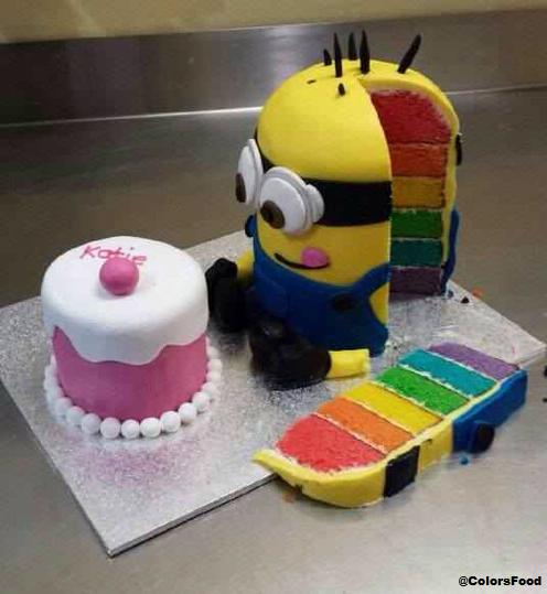 Pin von Donna Elie auf Cake Pictures  Minion kuchen