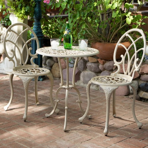 Dontrelle Aluminum 3 Piece Round Bistro Set Gartenecke Home Design Und Home Decor