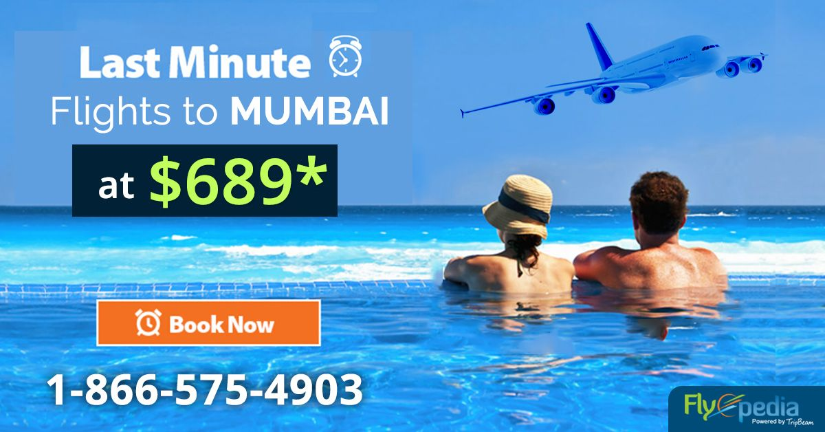 Book last minutes flights to #Mumbai with #Flyopedia, airfare starts at just $689*. Find the best deal on last minute flights. Book now and save more!  For more information call us at- 1-866-575-4903 (Toll-Free).  #LastMintuesFlights #flightdeals #flight #travel #cheapflightdeals #flightstomumbai #flighttickets  #Travel #Traveltips