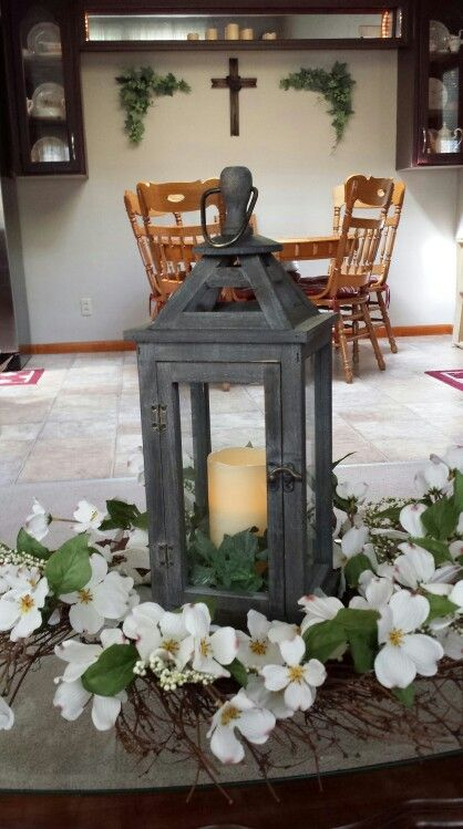 Lantern bought while on bus trip to Longaberger / Amish country trip