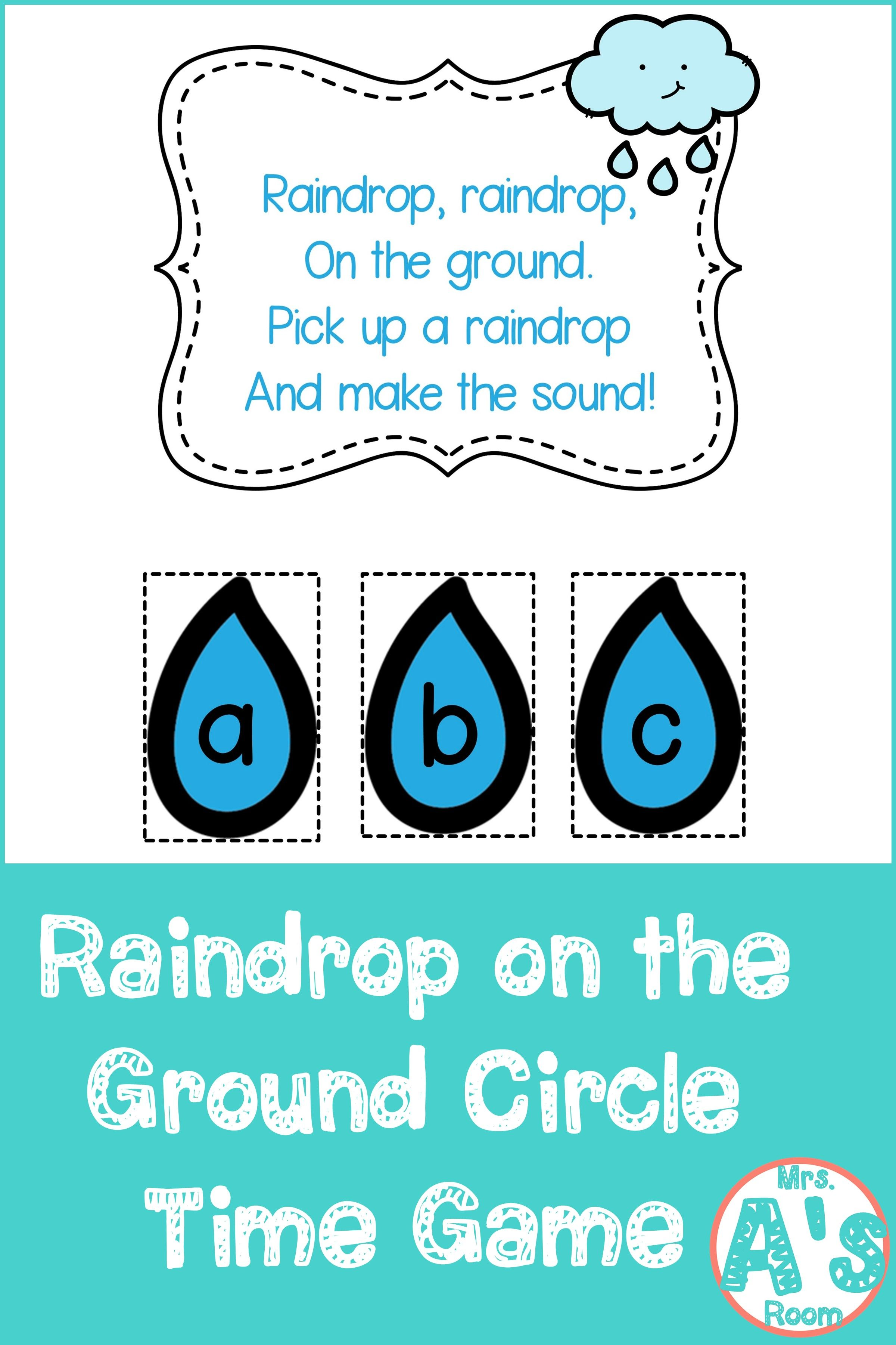 Raindrop On The Ground Circle Time Game In