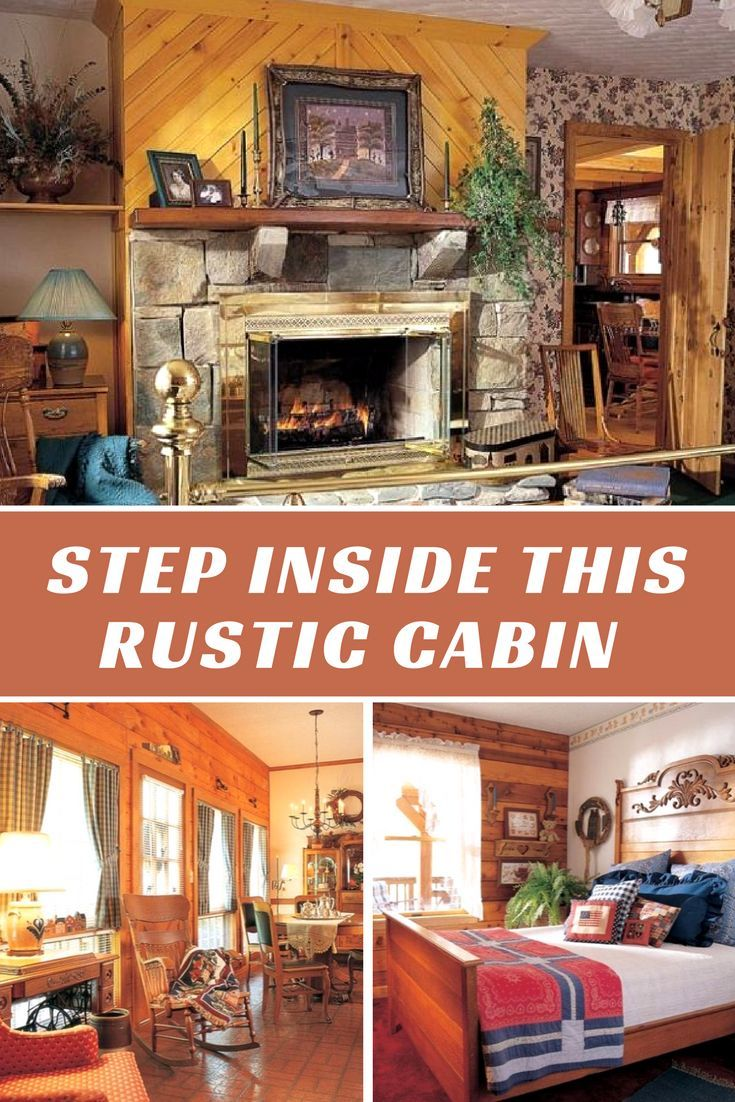 Step inside this rustic cabin where the