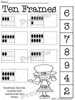 Kindergarten No Prep Phonics, Literacy & Math Work for