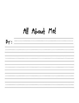 all about me writing template freebie classroom second grade rh pinterest com