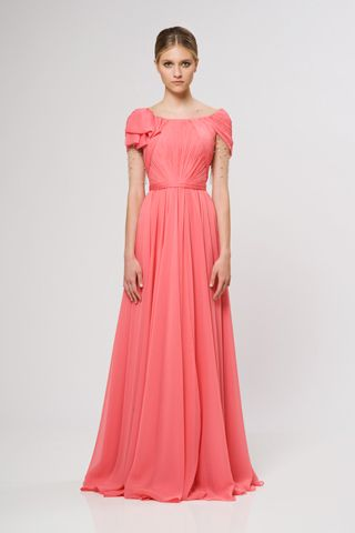 Reem Acra Resort 2013 [I would SO be smiling if I was wearing this dress. What's wrong, model??]