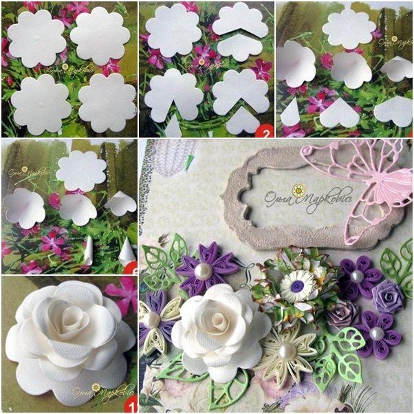 diy paper rose from template jpg 602Ã 602 card making tips