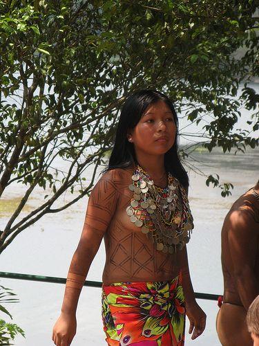 Young Embera Indian lady, Panama